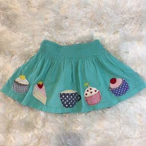 Mini Boden Cupcakes and Teacups Appliqué Skirt